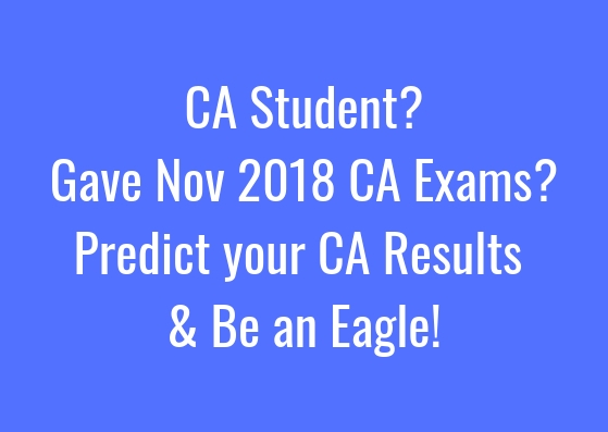 Predict your CA Result. Be an Eagle.